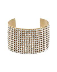 BaubleBar | Metallic Gold Ice Pavé Cuff | Lyst