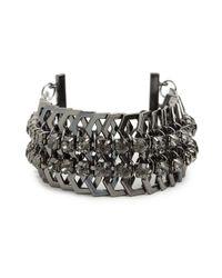 BaubleBar | Metallic Hematite Hex Cuff | Lyst