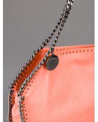 Stella McCartney - Pink Falabella Mini Faux-suede Cross-body Bag - Lyst