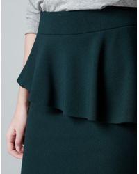 Zara   Black Peplum Skirt   Lyst