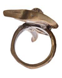 Alkemie - Metallic Cobra Ring - Lyst