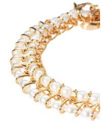 ASOS - Natural Two Pack Pearl Bracelet - Lyst
