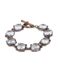 BaubleBar | Brown Bronze Ice Lens Bracelet | Lyst