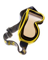Prada | Yellow Logo-Strap Ski Goggles for Men | Lyst