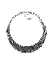 Zara | Metallic Necklace with Sparkly Stars | Lyst