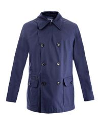 Ermenegildo Zegna | Blue Water-repellent Peacoat for Men | Lyst