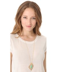 Alexis Bittar - Metallic New Wave Long Pendant Necklace - Lyst