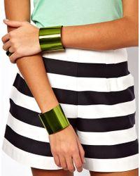 ASOS - Green Multipack Cuff Bracelets Ring - Lyst