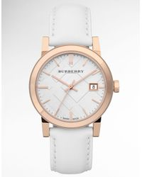 Burberry - White Ladies Rose Gold Watch  - Lyst