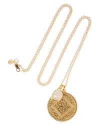 Monica Vinader | Metallic Marie Siren 18karat Goldvermeil Moonstone Necklace | Lyst