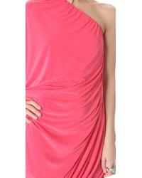 T-bags - Pink Asymmetrical Mini Dress - Lyst