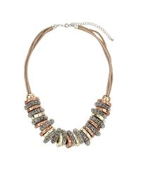 TOPSHOP - Multicolor Bolt Thread Necklace - Lyst