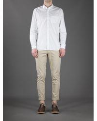 Boglioli - Natural Flat Front Trouser for Men - Lyst