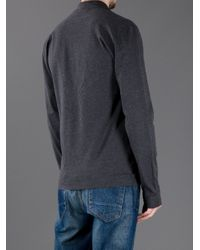 Dolce & Gabbana   Gray Long Sleeve Polo Shirt for Men   Lyst