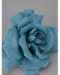 Erika Cavallini Semi Couture - Blue Semi Couture Spilla Rosa Azzurra Viscose - Lyst