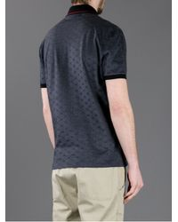 Gucci | Black Printed Polo Shirt for Men | Lyst