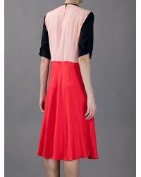 Marni | Red Embellished Crepe Dress | Lyst