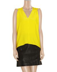 Zero + Maria Cornejo - Yellow Ines Stretch-Silk Top - Lyst