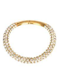 Alexander McQueen - Natural Crystal Embellished Tube Necklace - Lyst