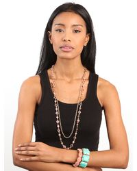 BaubleBar - Pink Blush Multilens Necklace - Lyst