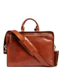 Brooks Brothers - Brown J.w. Hulme Leather Slim Portfolio Briefcase for Men - Lyst