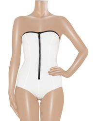 Lisa Marie Fernandez | White The Leigh Bandeau Swimsuit | Lyst