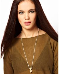 Love - Metallic Love Bullets Citine Crystal Bullet Necklace - Lyst