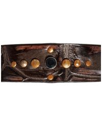 DIESEL - Brown Amsci Leather Bracelet for Men - Lyst
