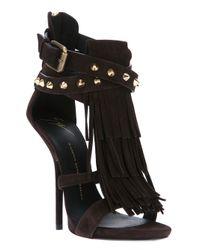 Giuseppe Zanotti | Black Studded Stiletto Sandal | Lyst
