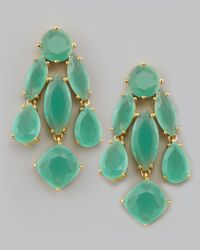 Kate Spade - Green Crystal Statement Earrings - Lyst