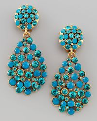 Oscar de la Renta | Blue Multistone Teardrop Earrings | Lyst