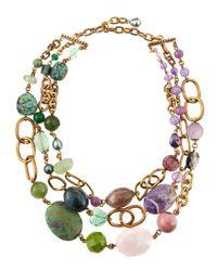 Stephen Dweck - Purple Threestrand Multistone Necklace - Lyst