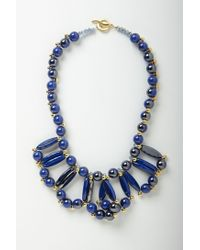 Anthropologie - Blue Color Loop Bib - Lyst