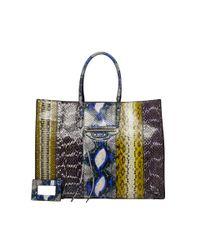 Balenciaga | Multicolor Balenciaga Papier Elaphe A4 Blue | Lyst