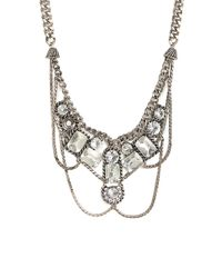 BaubleBar - Metallic Silver Essex Necklace - Lyst