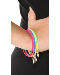 Marc By Marc Jacobs - Multicolor Set Of 5 Skinny Rubber Bangles - Lyst