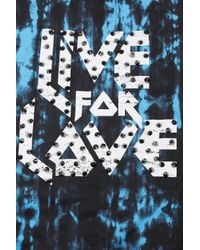 TOPSHOP - Blue Live For Love Tank - Lyst