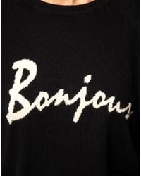 ASOS Collection | Blue Asos Bonjour Jumper in Angora Mix | Lyst