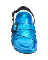Burberry | Blue Metallic Bellgreen Sandal for Men | Lyst