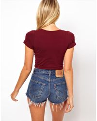 ASOS Collection - Red Asos 90s Crop Top - Lyst