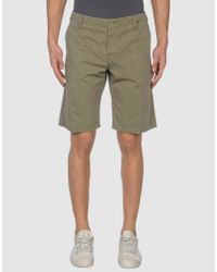 Aspesi | Green Denim Bermudas for Men | Lyst