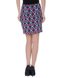 Just Cavalli - Black Knee Length Skirt - Lyst