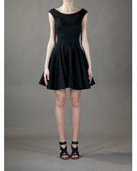 Versace   Black Skater Dress   Lyst