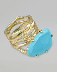 Kendra Scott | Blue Cora Coil Ring Turquoise | Lyst