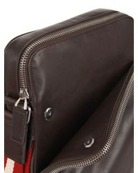 Bally - Black Leather Report Crossbody Bag - Lyst