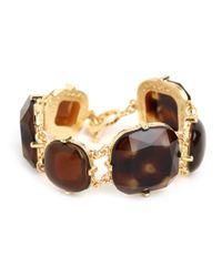 BaubleBar - Brown Tortoise Gem Bracelet - Lyst