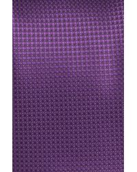 Canali | Purple Solid Silk Tie for Men | Lyst