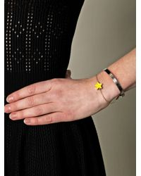 Delfina Delettrez - Metallic Two in One Silver and Gold Star Bracelet - Lyst