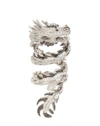 Elise Dray - White Dragon Articulated Ring - Lyst