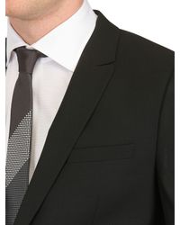 Givenchy | Black One Button Stretch Cool Wool Suit for Men | Lyst